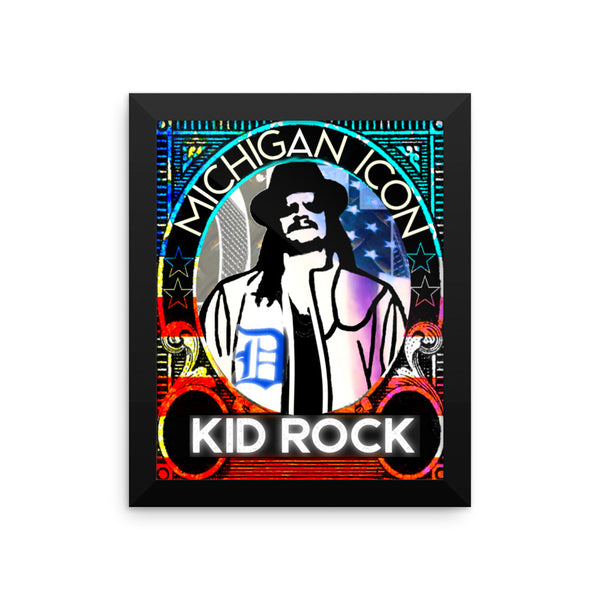 Kid Rock Framed photo paper poster