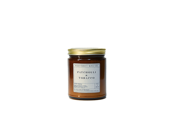 Patchouli + Tobacco Soy Candle