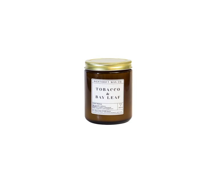 Tobacco + Bay Leaf Soy Candle - DISCONTINUING