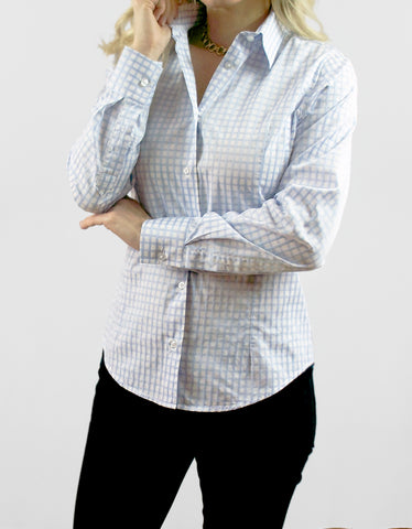 """Elizabeth"" - Women's Blue/White Check: No Sweat"