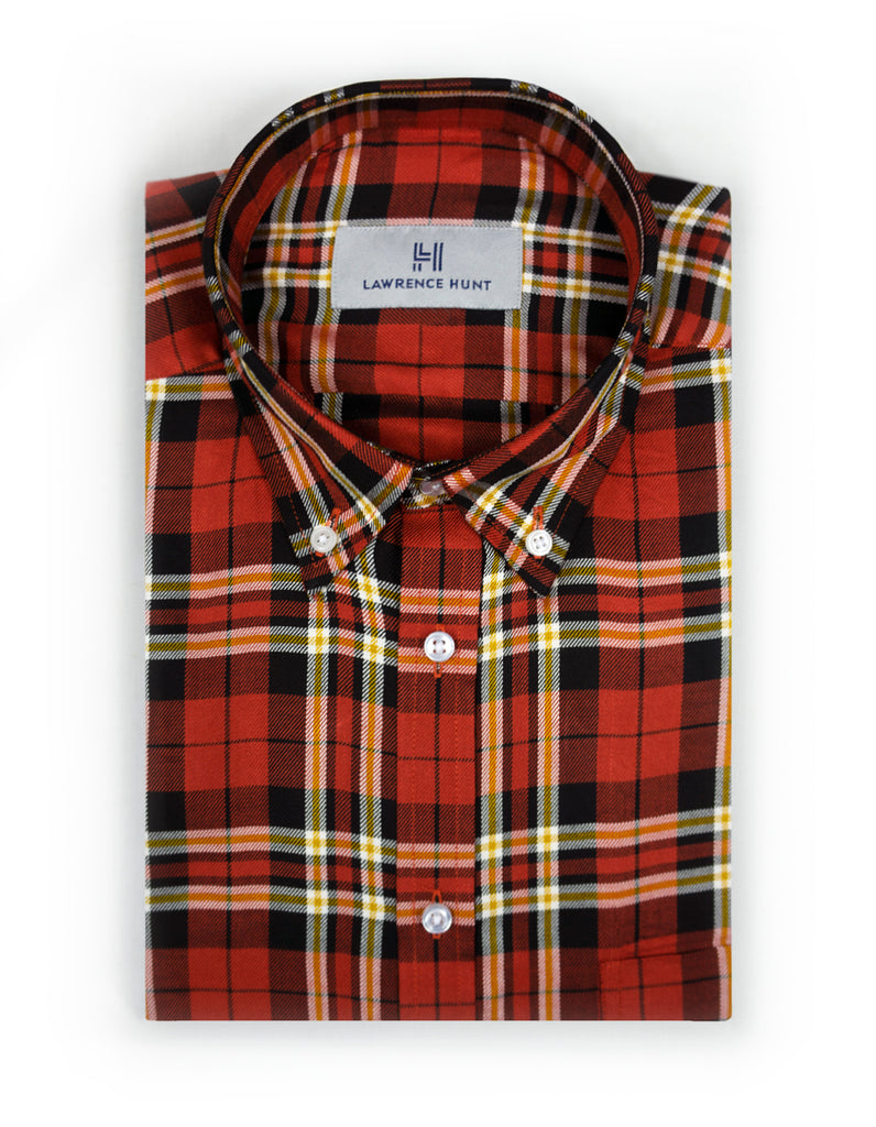 """Palmer"" - Orange Plaid: FEATHERWEIGHT"