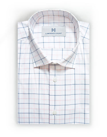 """Pingree"" - Blue/Pink Check: NO SWEAT"