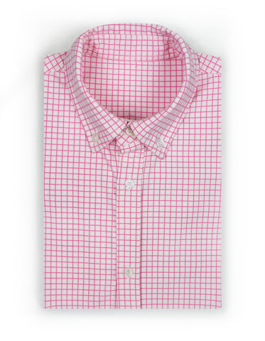 """Watson"" - Pink Windowpane: STRETCH"