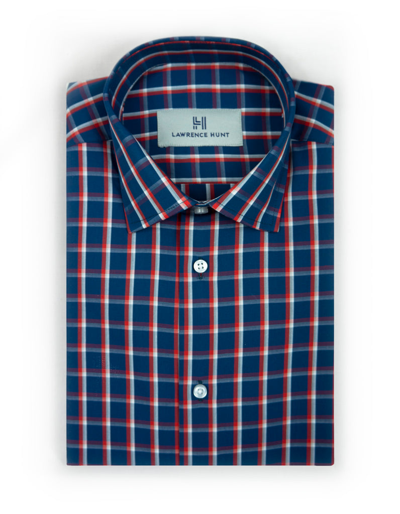 """Shep"" - Blue & Red Plaid: NO SWEAT"