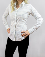 """Trumbull"" - Women's Gray Windowpane: No Sweat"