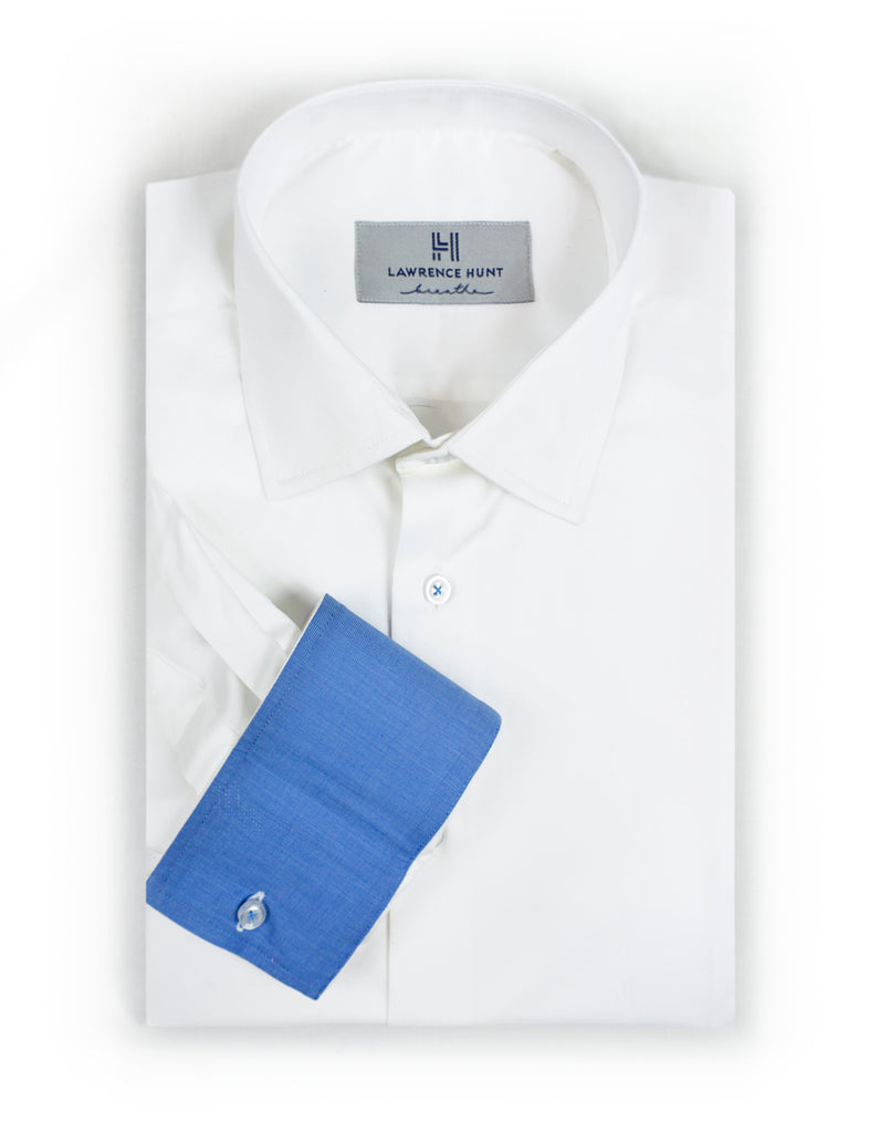 78531eb3 White Mens Dress Shirt | Performance I 100% Cotton I Sweat-resistent ...