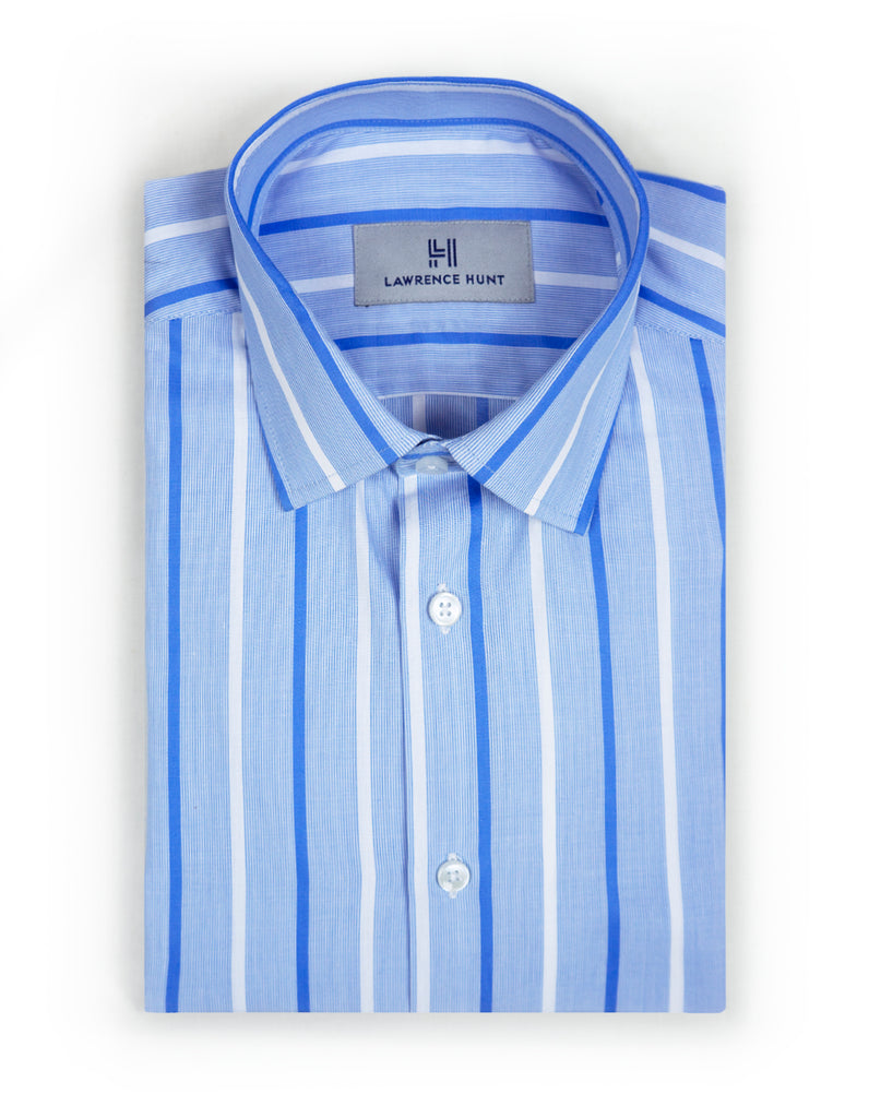 """Wilkens"" - Blue & White Stripe: NO SWEAT"