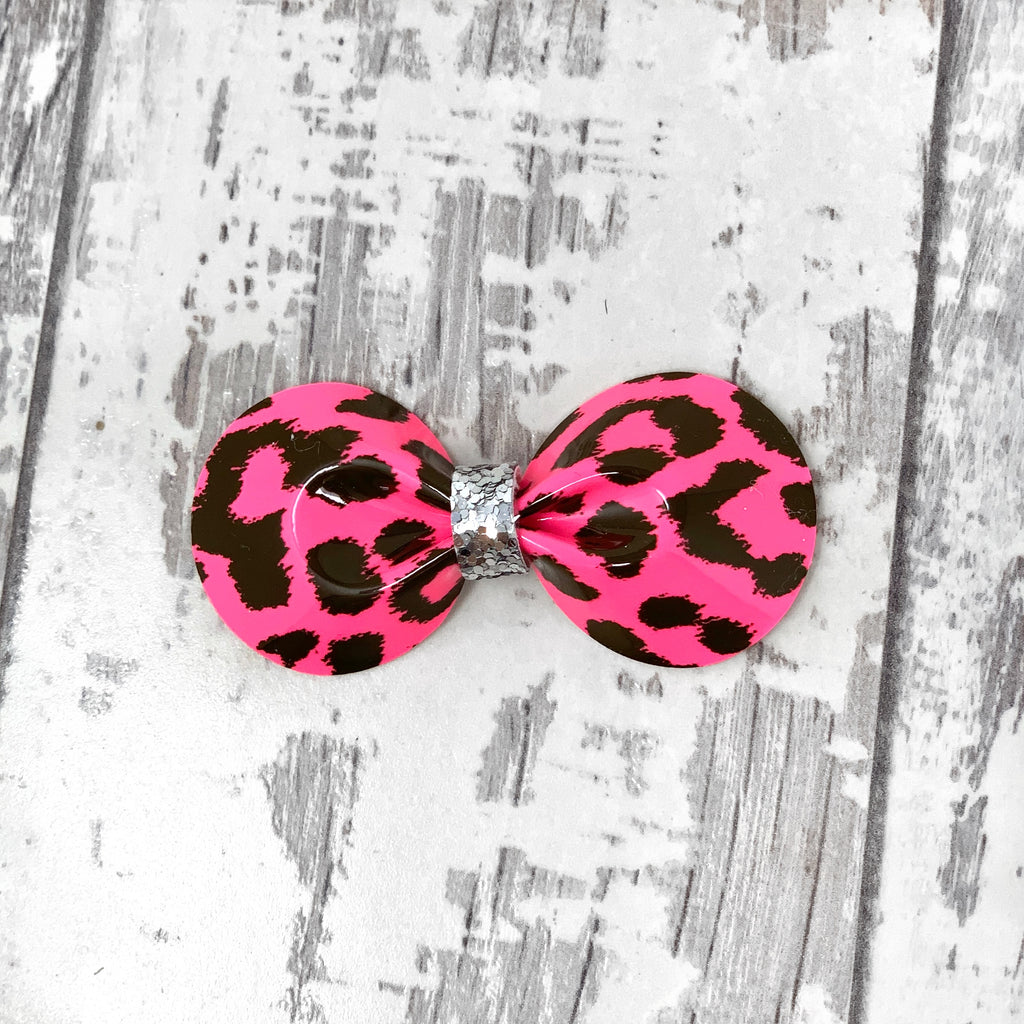 Hot Pink Leopard Gracie Bow