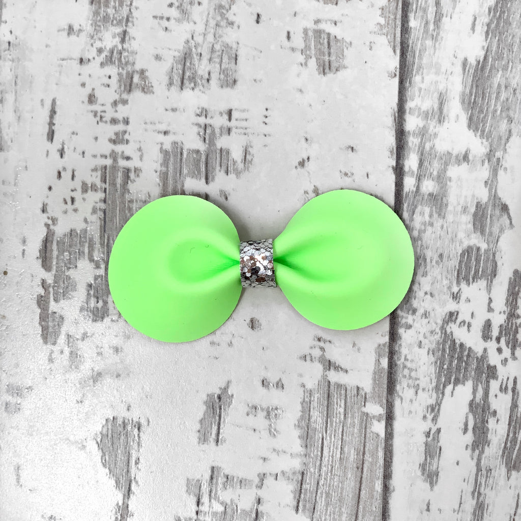 GLOW IN THE DARK Green Gracie Bow