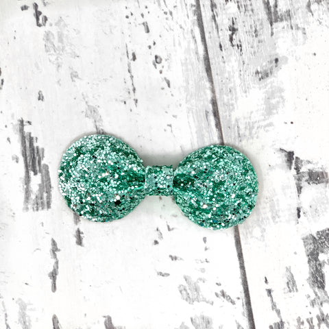 Mint Glitter Gracie Bow