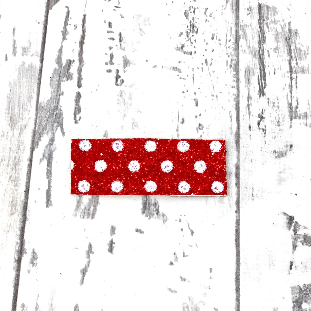 Red and White Polka Dot Snap Clip