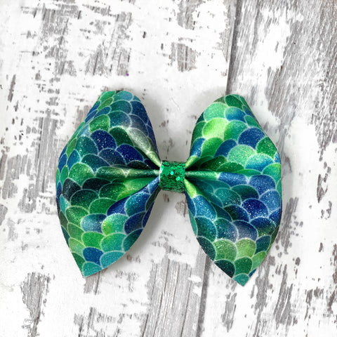 Green Ombré Mermaid Charlotte Bow