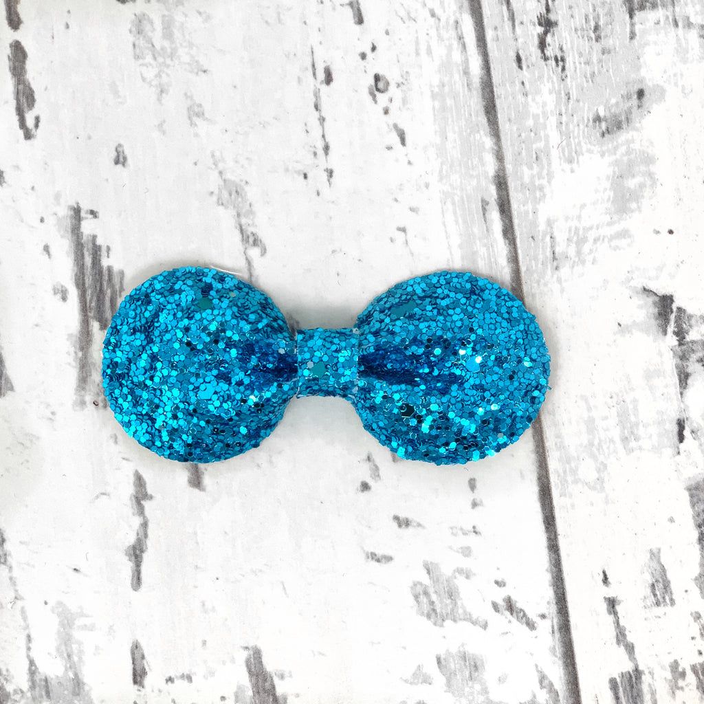 Teal Glitter Gracie Bow