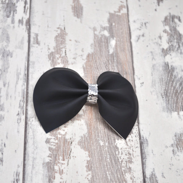 MINI Black to Peacock Color Changing Charlotte bow