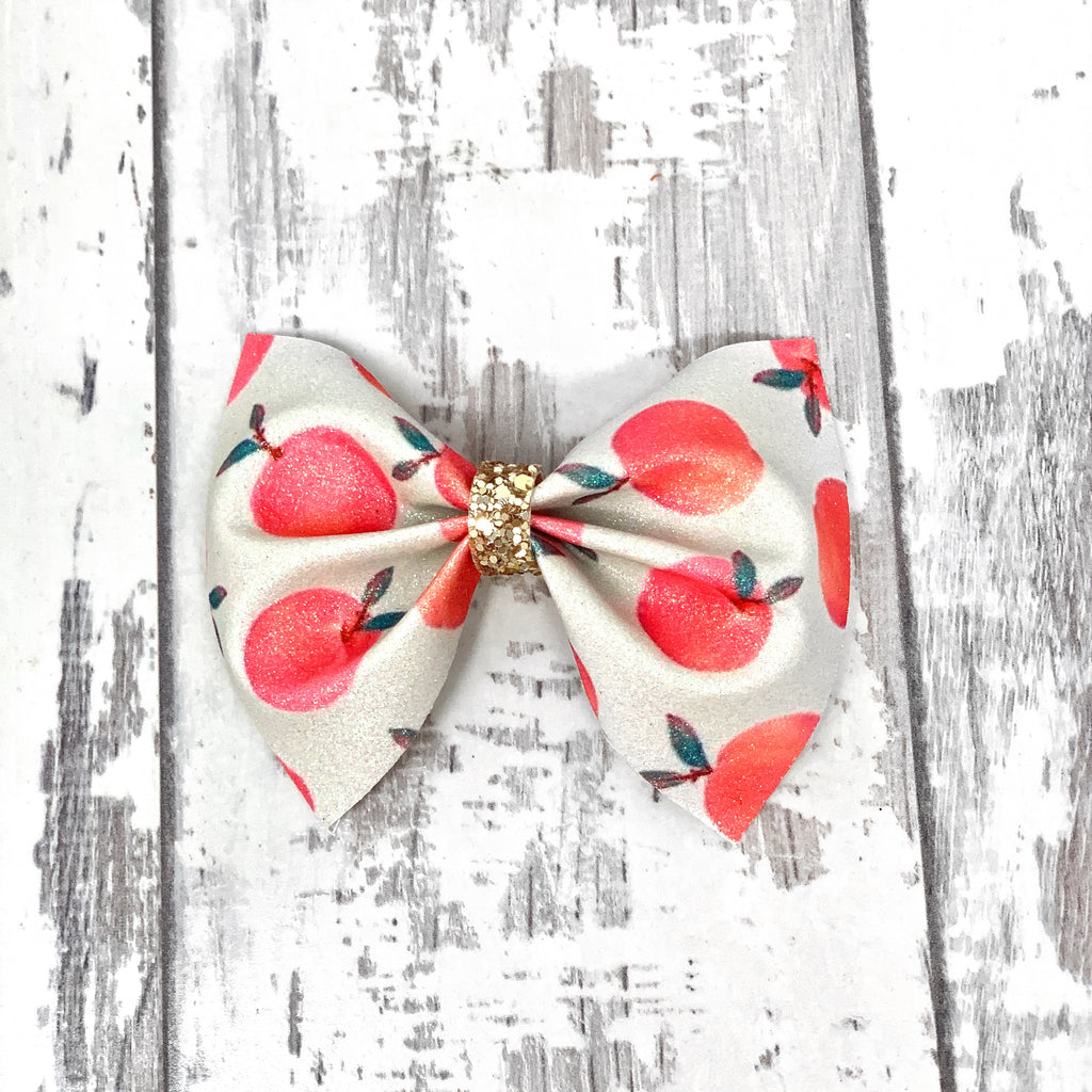 Just Peachy Charlotte bow