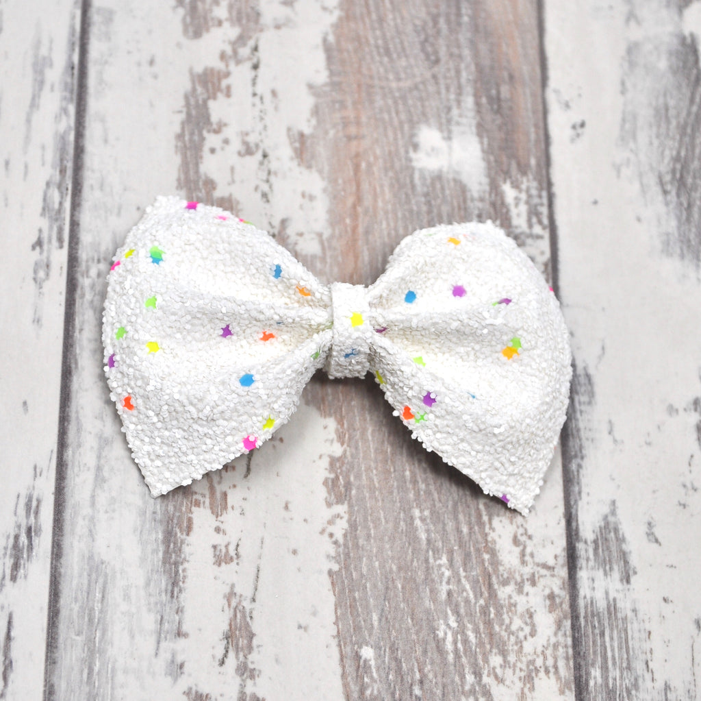 White Pop Rocks Charlotte bow