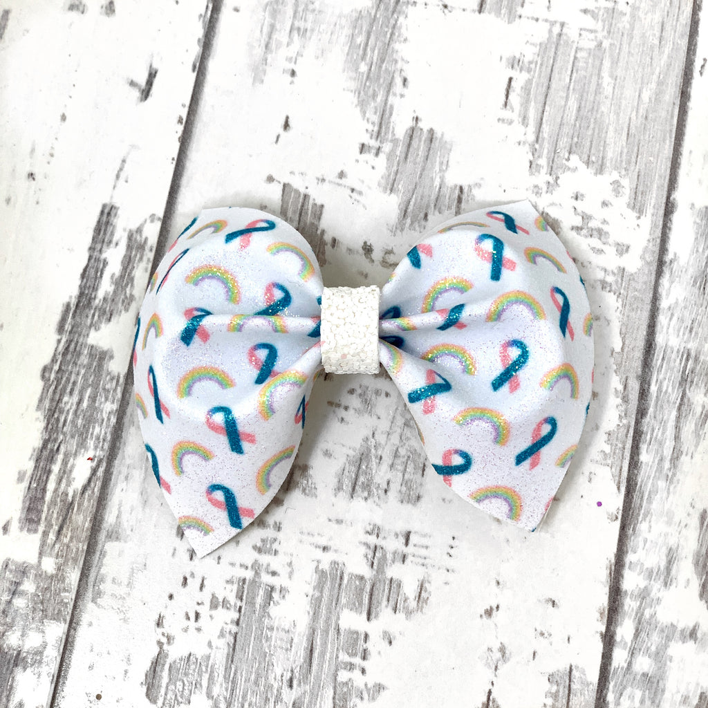 Infant Loss and Infertility Ribbon Charlotte Bow