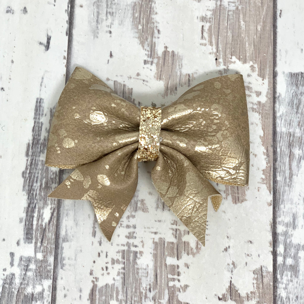 Splashed Bronze Lucy Bow