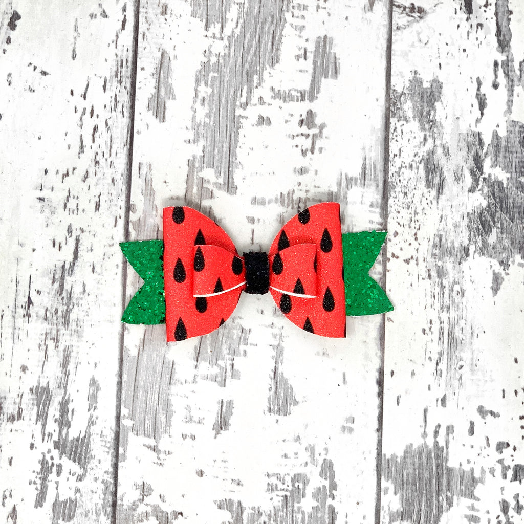 Watermelon Adilyn Bow
