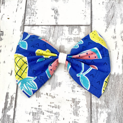 Tropical Paradise Cotton Bow