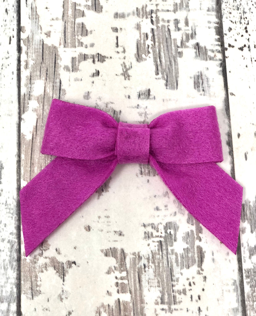 Violet Sailor Long Tailed Bow