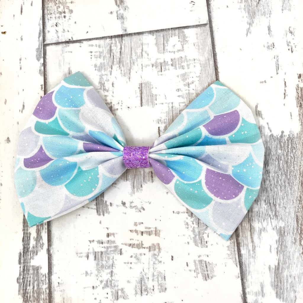 Princess Sparkle Fins Cotton Bow