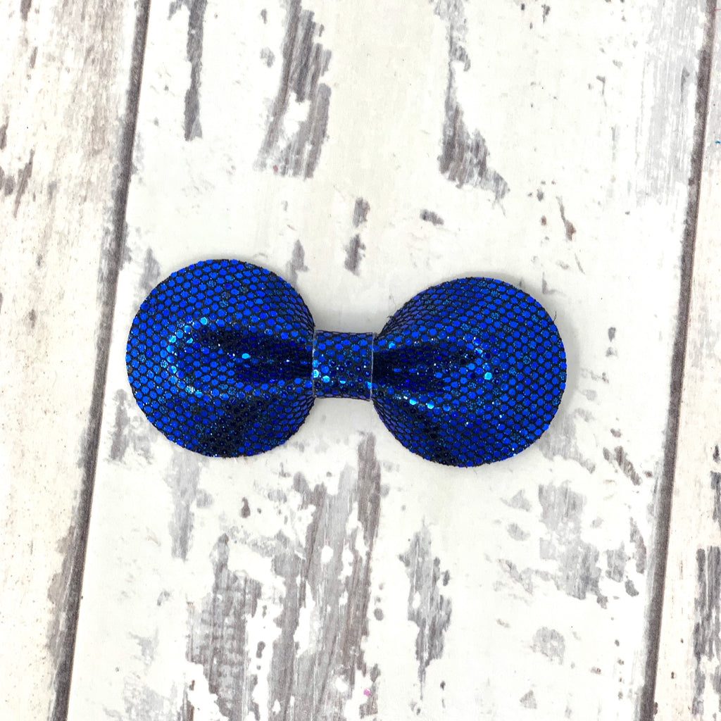 Royal Blue Glitter Gracie Bow