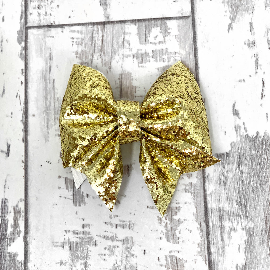 Gold Glitter Lucy Bow