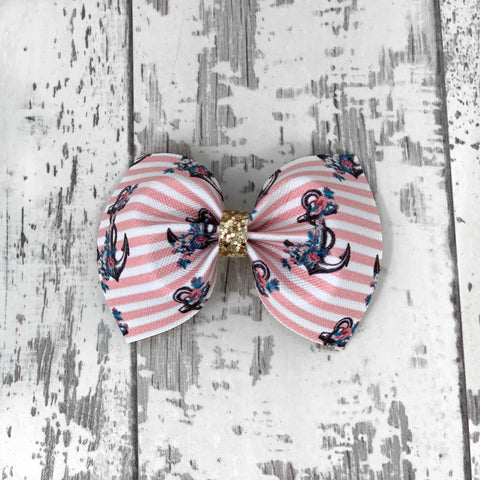 Pink Anchor Charlotte Bow