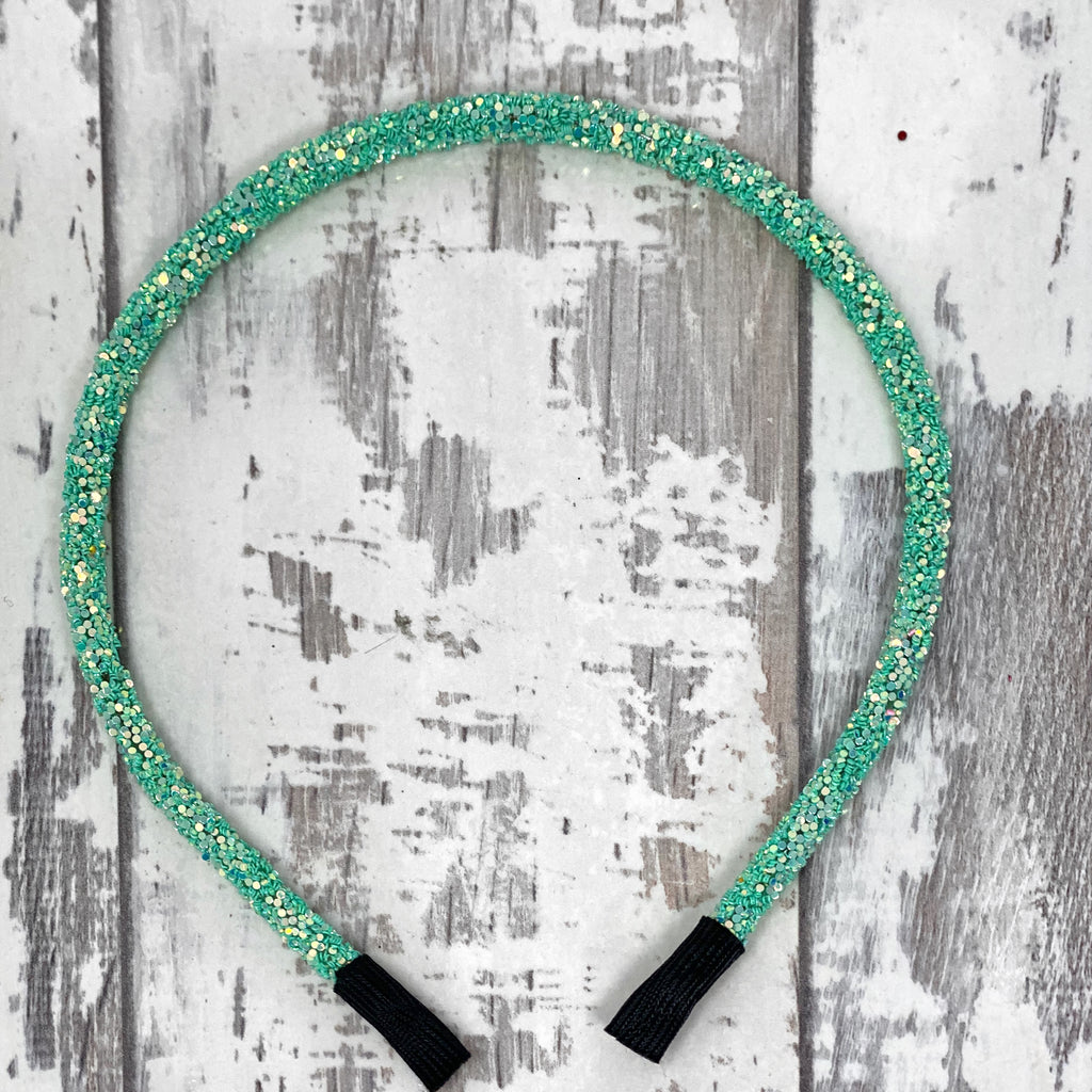 Mint Glitter Hard Headband