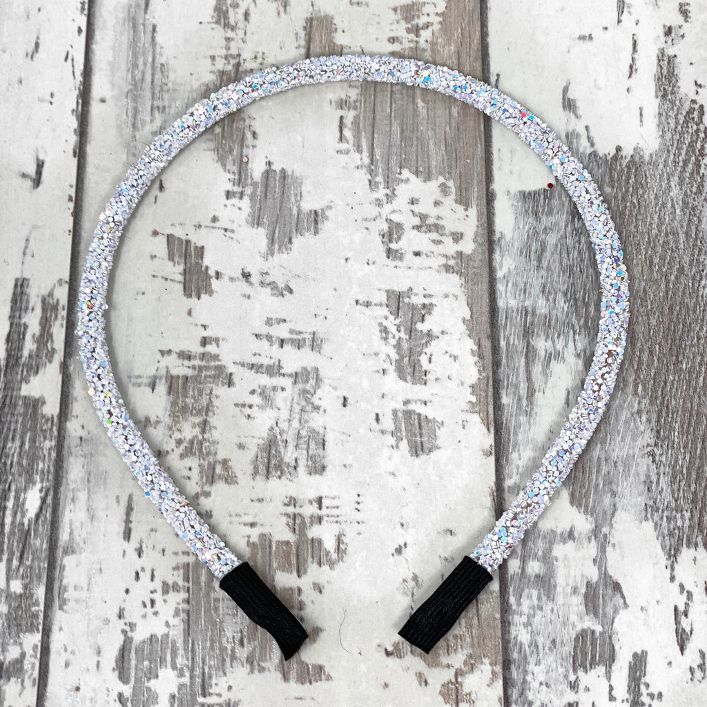 Ice Glitter Hard Headband