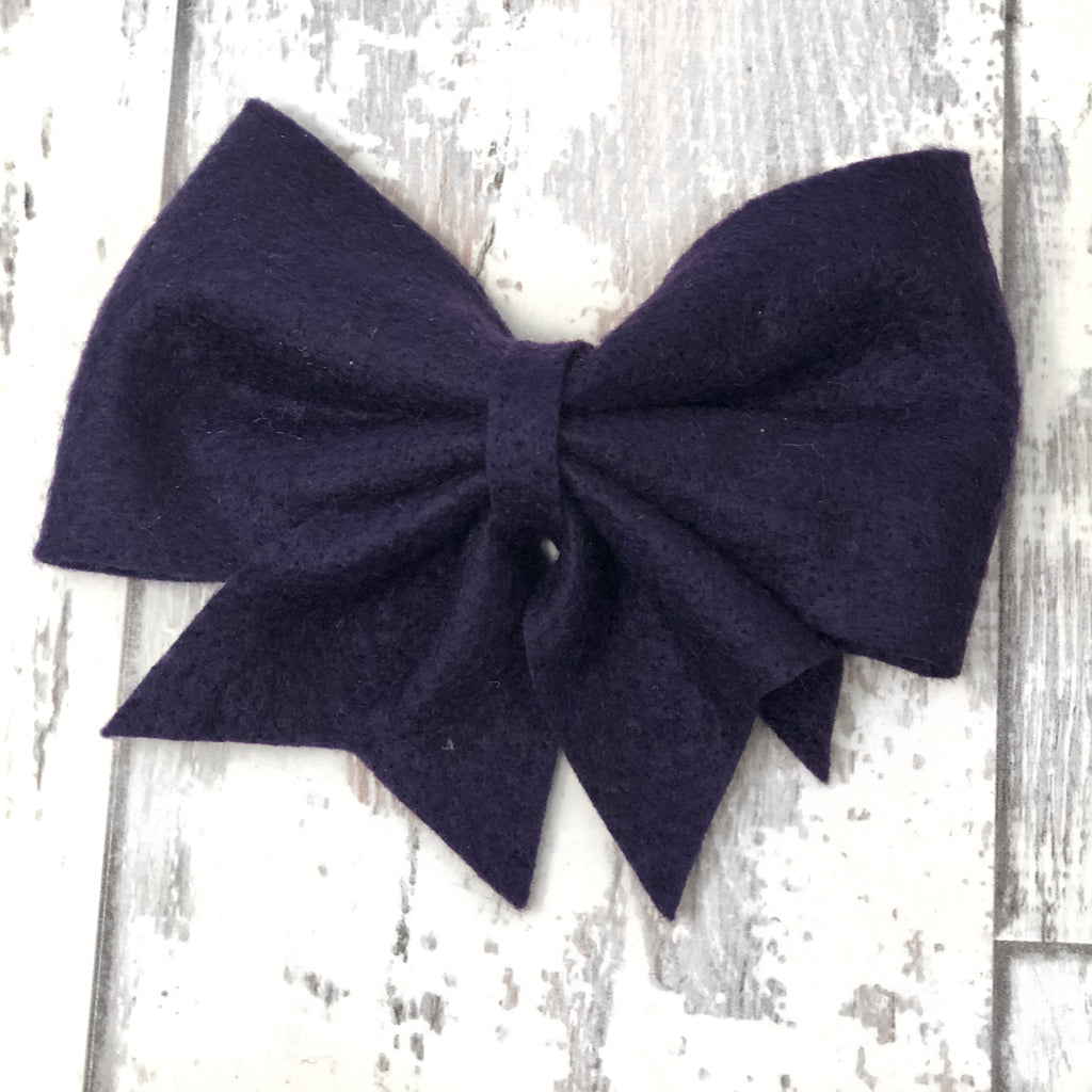 Plum Lucy Bow