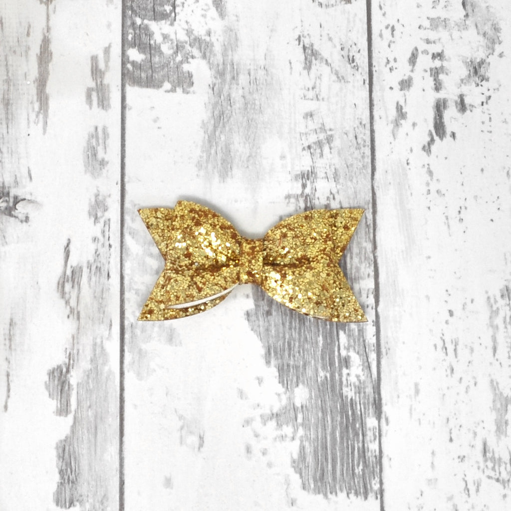 Pale Gold Glitter Daphne Bow