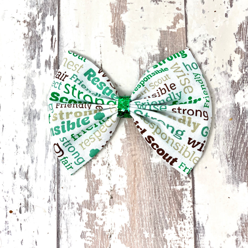 Girl Scout Oath Cotton Bow