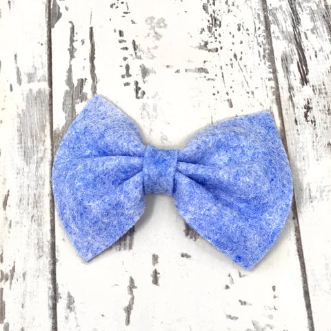 Heathered Blue Charlotte bow