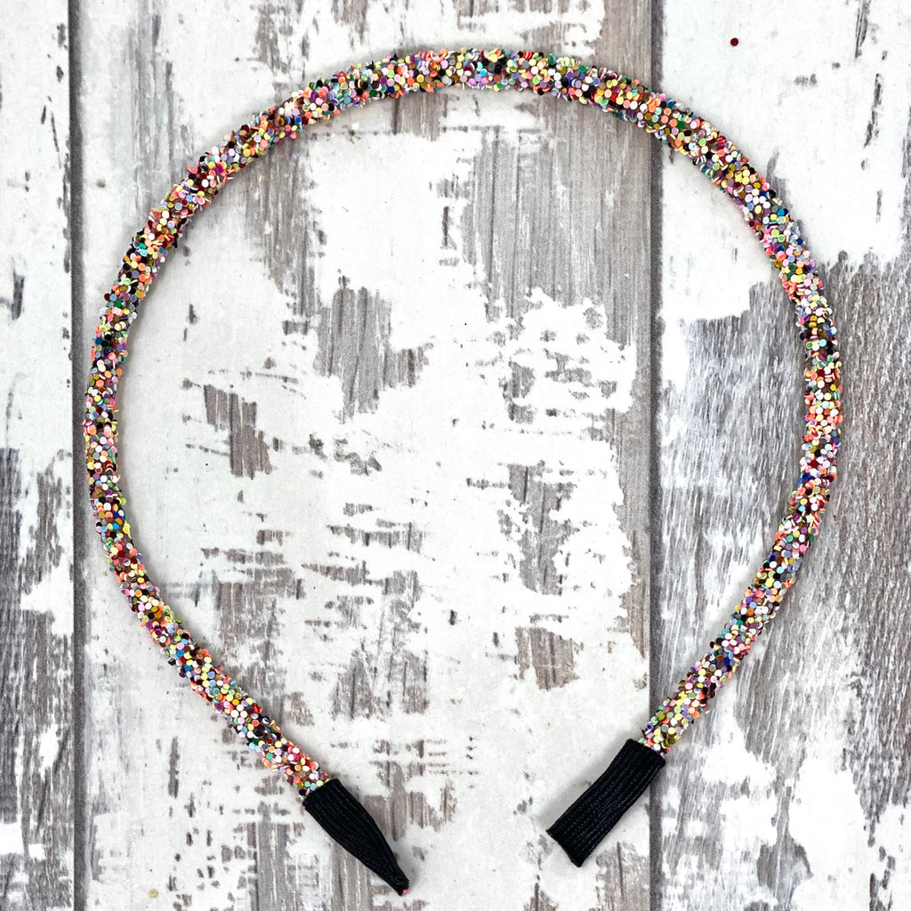 Rainbow Glitter Hard Headband