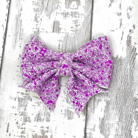 Purple Sparkle Lucy Bow