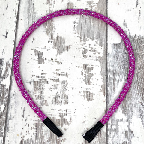 Ultra Violet Glitter Hard Headband