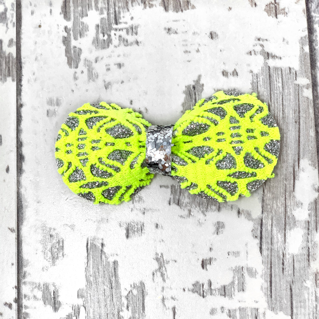 Electric Neon Lace Gracie Bow