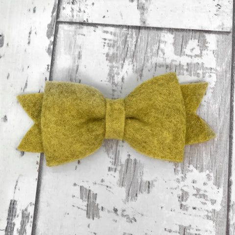 Honey Mustard Claire Bow