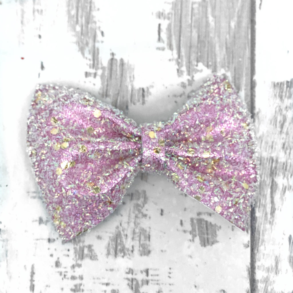 Pink Glimmer Charlotte Bow