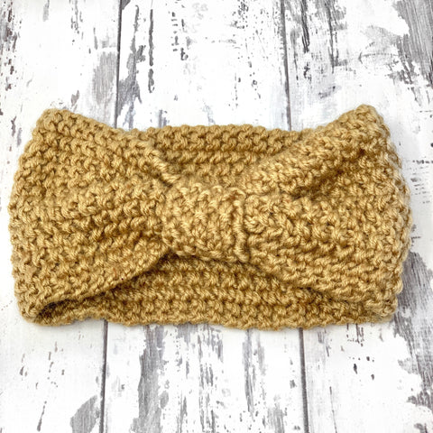 Tan Knitted Turban