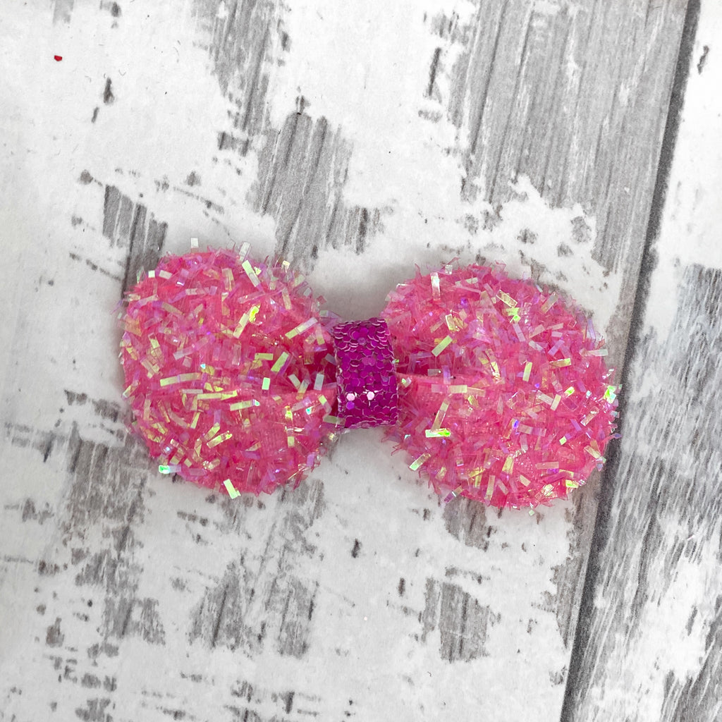 Hot Pink Confetti Gracie Bow