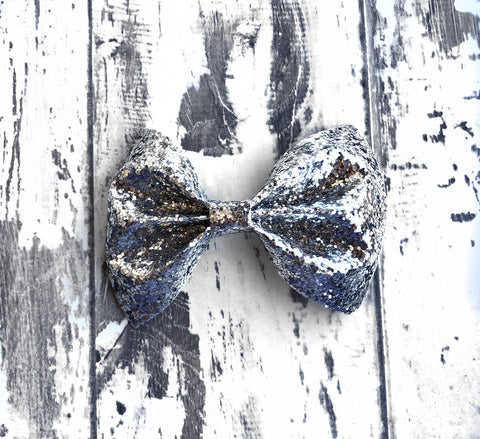 Silver Charlotte Bow