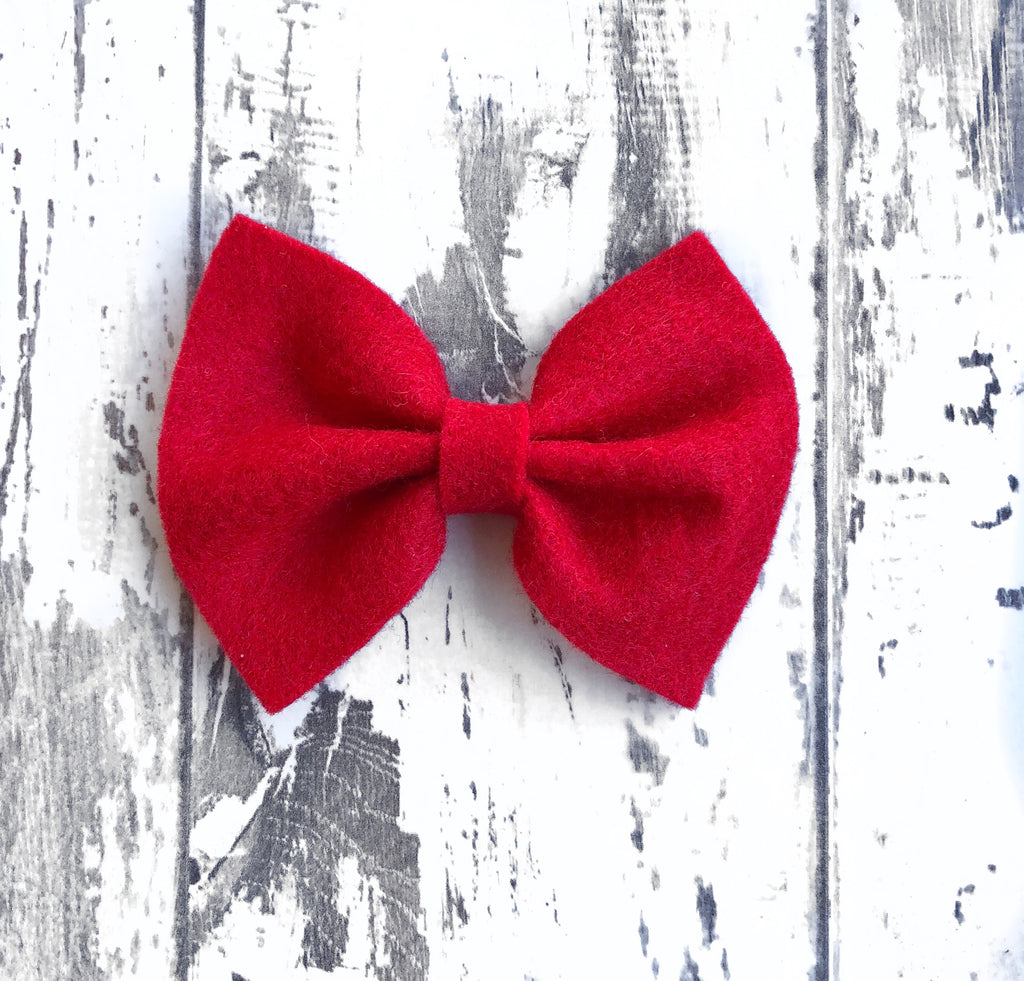 Ruby Red Charlotte Bow