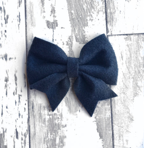 Navy Lucy Bow