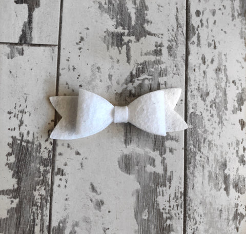 White Scarlett Bow