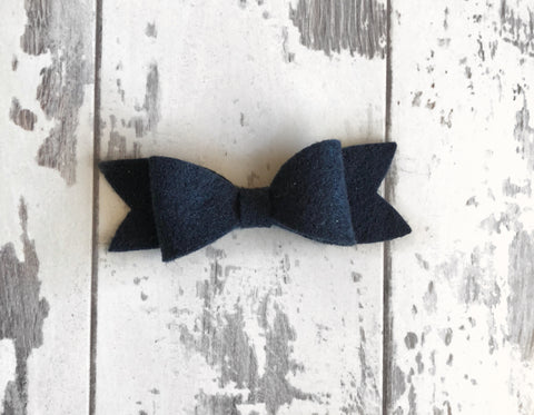 Navy Scarlett Bow