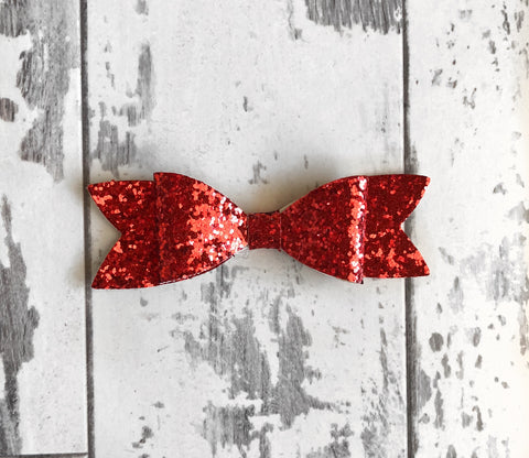 Red Glitter Scarlett Bow