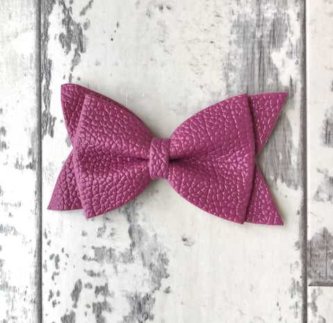 Violet Daphne Vegan Leather Bow
